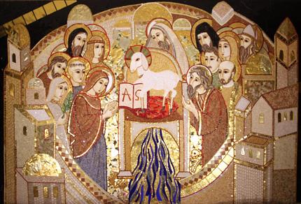 Risultati immagini per Mosaico Gerusalemme celeste